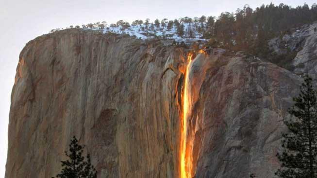Dinding Api Yosemite